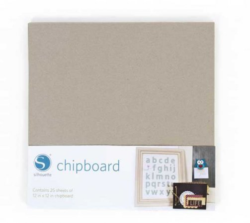 "Graupappe - Chipboard 12"" x 12"""